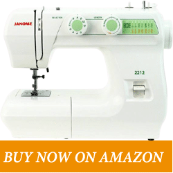 Janome 2212 – Best Janome Mechanical Sewing Machine - Best Budget Sewing Machine for Advanced Sewers