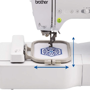 brother SE600 Sewing Area