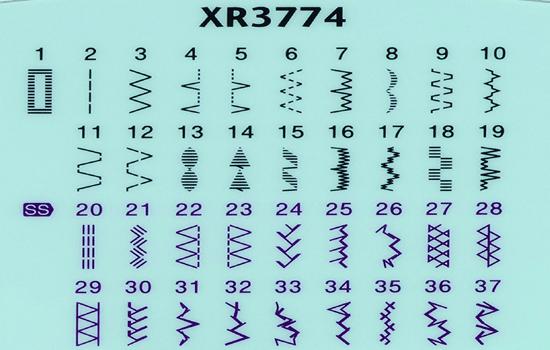 Brother XR3774 Stitch Chart